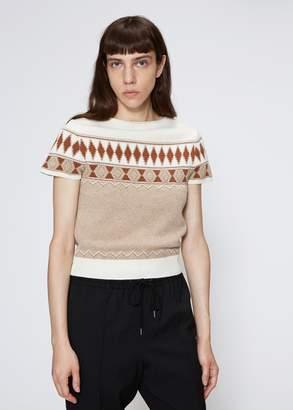Maison Margiela Jacquard Cropped Corset Sweater