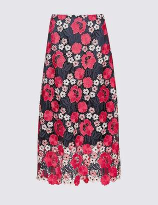 Marks and Spencer Lace A-Line Midi Skirt