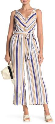 Mimichica Mimi Chica Striped Button Front Jumpsuit