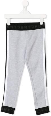 DKNY side stripe track trousers