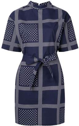 Roseanna printed belted dress