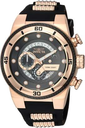 Invicta Men's 'S1 Rally' Quartz Stainless Steel and Silicone Casual Watch, Color:Two Tone (Model: 24226)