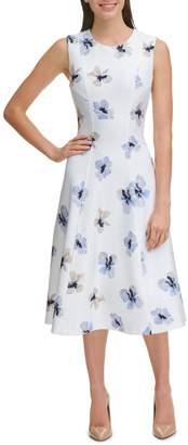 Tommy Hilfiger Floral Fit--Flare Dress