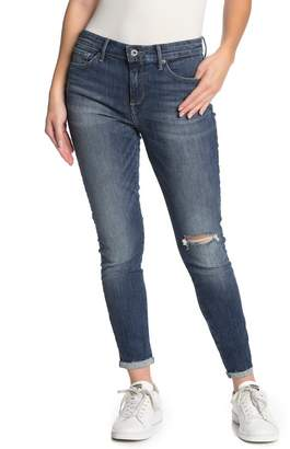 Lucky Brand Ava Mid Rise Distressed Leggings