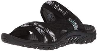 Skechers Women's Reggae-Fizzle-Adjustable Webbing Slide Sandal