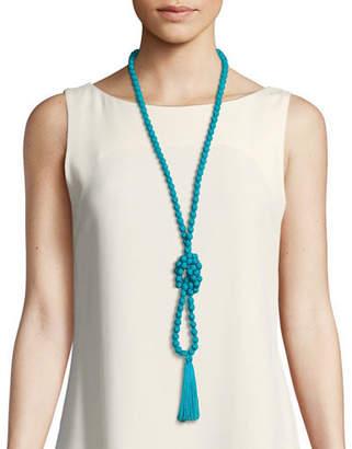 Masai Ariel Shantung Viscose Tassel Necklace