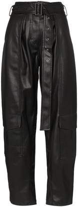 Low Classic faux leather cargo trousers