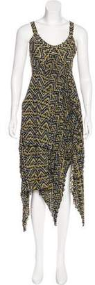 A.L.C. Silk Abstract Print Dress