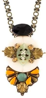Ranjana Khan Crystal, Stone and Resin Pendant Necklace