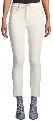 Rag & Bone High-Rise Velvet Skinny Ankle Jeans