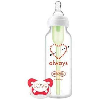 Dr Browns Dr. Brown's Special Edition Valentine Holiday 8 Ounce Options Bottle and Pacifier