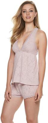 Flora Nikrooz Flora By Women's Flora by Burnout Lace Cami & Shorts Pajama Set