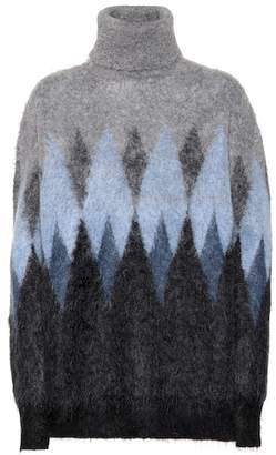 Junya Watanabe Turtleneck wool-blend sweater