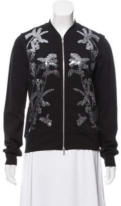 Dries Van Noten Embellished Bomber Knit Jacket w/ Tags