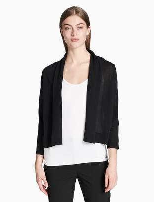 Calvin Klein sheer 3/4 sleeve shrug