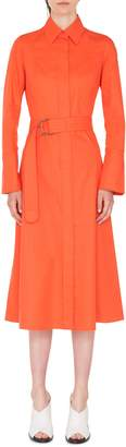 Akris Punto Belted Stretch Cotton Shirtdress