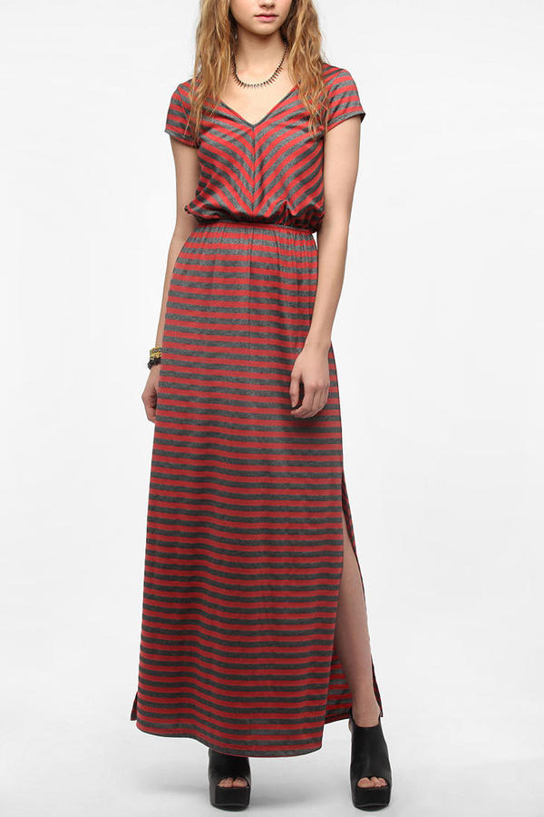 Urban Outfitters Pins And Needles Striped Knit Maxi Dress