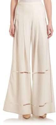 Public School Delblush Pleated Crepe Culottes