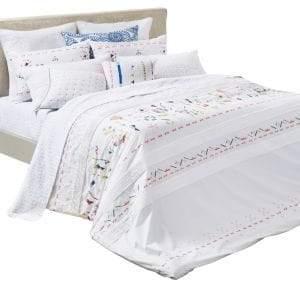 Bluebellgray Kalkan Cotton Three-Piece Duvet Cover Set