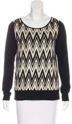 Ella Moss Chevron Print Knit Sweater