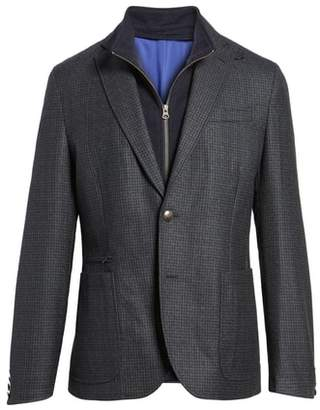 Kroon Jones Aim Hybrid Classic Fit Check Wool Sport Coat