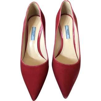 Prada Pink Velvet Heels