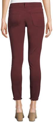 DL1961 Premium Denim Margaux Mid-Rise Skinny Ankle Jeans, Red