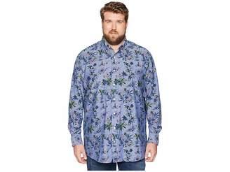 Nautica Big Tall Large Palm Print Shirt