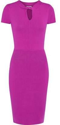 Milly Samantha Twist-Front Stretch-Knit Mini Dress