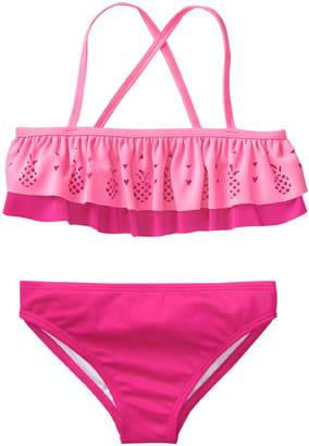 Crazy 8 Crazy8 Pineapple Ruffle Bikini