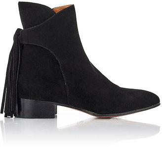Chloé WOMEN'S TASSELED SUEDE ANKLE BOOTS