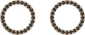 Aurate Diamond Circle Earrings with Black Diamonds