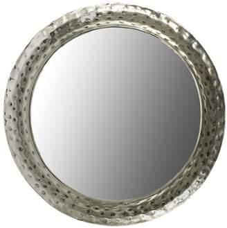 Large Round Iron & Glass Mirror