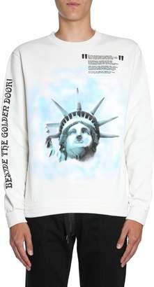 Off-White Off White Round Collar Sweatshirt