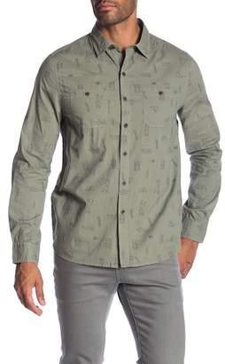 Michael Bastian Camping Print Woven Shirt