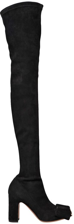 90mm Bowow Suede Over The Knee Boots