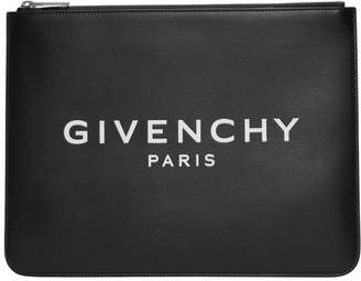 Givenchy Black Logo Zip Pouch