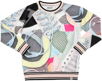Molo Sneakers Print Cotton Jersey T-Shirt
