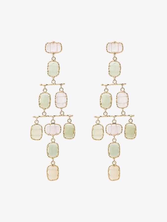 tiered multi stone earrings