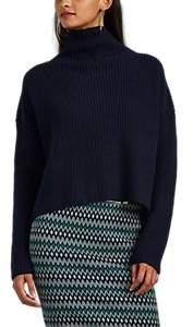 A.L.C. Women's Ribbed Wool Mock-Turtleneck Sweater - Navy