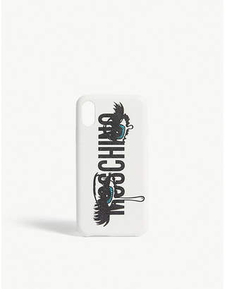 Moschino Eye lashes logo iPhone X case