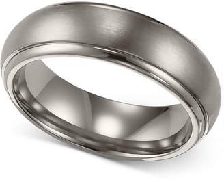 Triton Men's Titanium Ring, Comfort Fit Wedding Band (6mm)