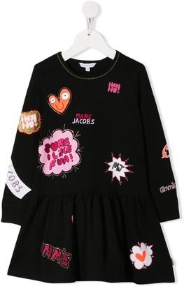 Little Marc Jacobs printed logos dress