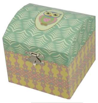 "Musicboxworld Musicbox World 22166 Owl Jewellery Box Playing the Melody - ""Brother Jacob"""