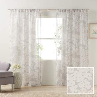 Lauren Conrad Pale Blossom Sheer Window Curtain