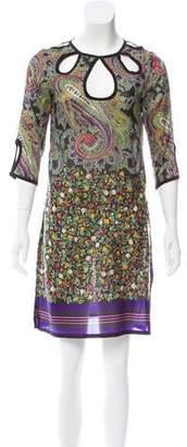 Etro Floral Print Silk Tunic
