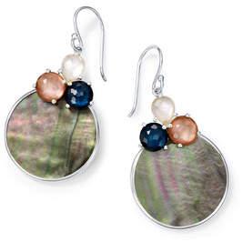 Ippolita Wonderland Overlap 3-Stone Earrings in Moroccan Dust
