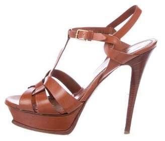 Saint Laurent Leather Tribute Sandals