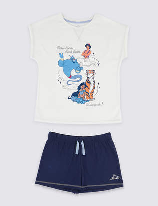 Marks and Spencer Disney Characters Aladdin Short Pyjamas (3-16 Years)