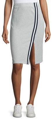 Splendid Varsity Active Side-Slit Pencil Skirt, Heather Gray $128 thestylecure.com